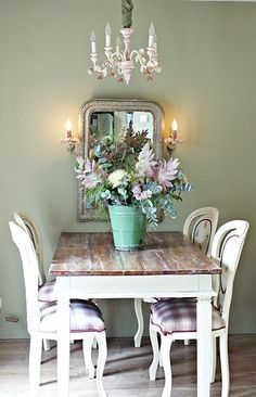 House Tour  House Tours Table And Chairs And Blue Dining Rooms Mesmerizing Shabby Chic Dining Room Table Design Decoration
