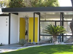 Mid-century home taken in Palm Springs, CA
