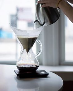 Today's pour over: Tres Santos Colombia with flavors of dried apricot, fig, and vanilla.