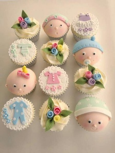 Cute! Baby shower cupcakes