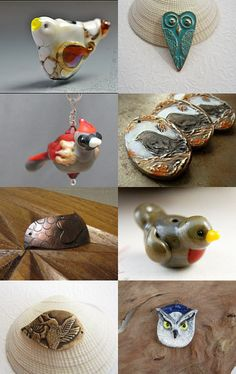A bird focused Art Jewelry Elements Treasury--Pinned with TreasuryPin.com