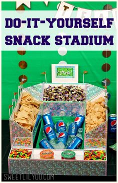 Check out our DIY Snack Stadium! We're even live streaming the game right from the snack table! #GameDayGlory ad