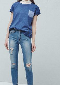 Crop skinny isa jeans -  Women | MANGO USA