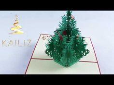 KAILIZ Big Christmas Tree 3D Christmas Card