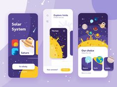 Inspiring collection of UI design examples devoted to studying and teaching: check screens and interactions for educational apps and websites. Web Design Trends, Design Websites, App Ui Design, User Interface Design, Layout Design, Game Interface, Mobile App Design, Web Mobile, Mobile App Ui
