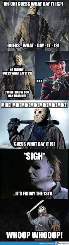 Freddie Jason Michael Myers Friday the thirteenth