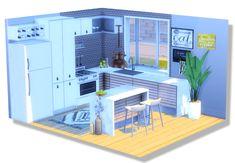 Simple House Interior Design, Sims 4 House Design, Sims 4 House Plans, Small House Plans, Sims Building, Building A House, Sims 4 Anime, Sims 4 Kitchen, Sims 4 Bedroom