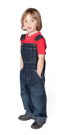 Denim overalls. The most common type of overalls, denim features cotton crafted using special twill weave. Denim overalls typically have a bib pocket, sometimes with a pencil divider or watch pocket too. Choose between high back crossed straps or classic with a metal snap or hook closure.