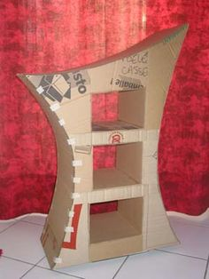 make your own Halloween furniture from cardboard~Alice in Wonderland