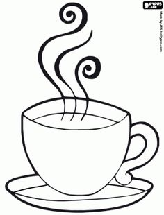 Tea Cup And Saucer Drawing Sketch Coloring Page | Crafty Stuff ...