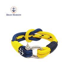 Davy Jones Nautical Bracelet by Bran Marion Nautical Bracelet, Nautical Jewelry, Davy Jones, Reef Knot, Marine Rope, Everyday Look, Handmade Bracelets, Anklet, Jewelry Collection