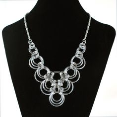 Bibbed Scallop Necklace | Handmade Chainmaille Jewelry by Rebeca Mojica