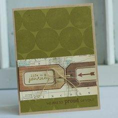 Papertrey Ink tag die card by Betsy Veldman