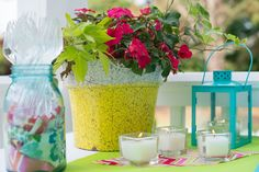 Pops of color and lots of candles required