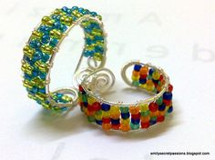 - Adjustable Wire Wrap Ring (Seed Beads)