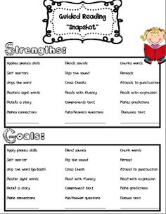 Guided Reading Assessments