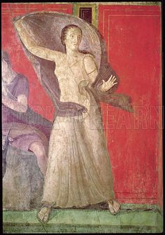 The Startled Woman | Unknown | 60-50 BCE | fresco (detail) | Villa del Misteri, North Wall, Pompeii, Italy