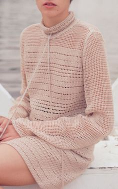 Mock Neck Knit Mini Dress by MAGDA BUTRYM for Preorder on Moda Operandi