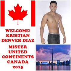 Kristian Denver Diaz - Mister United Continents Canada 2015