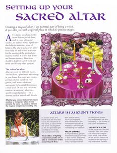 Setting up your sacred altar
