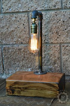 Lampe Edison lampe Steampunk Upcycle Decor par FerreroArtDesign