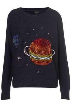 Knitted Crystal Planet Jumper.  Topshop $110.00