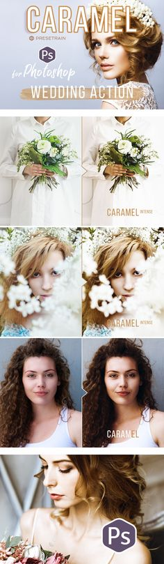 Caramel Wedding Photoshop Action - Photo Effects #Actions