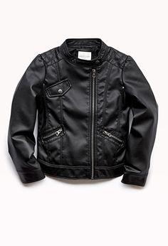 Cool-Girl Biker Jacket (Kids) | FOREVER21 girls - 2000052001