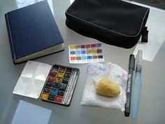Small watercolour sketch kit 2 by sue_bellhill, via Flickr