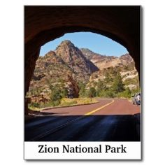 Zion National Park Utah Travel Postcards #SOLD on #Zazzle