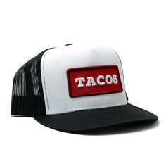 96a6cfa685d Taco Gear stepped up the hat design with a custom patch style TACOS hat.  This
