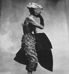 Christobal Balenciaga, Vogue, September 1950, Model: Dovima, Photograph Irving Penn.