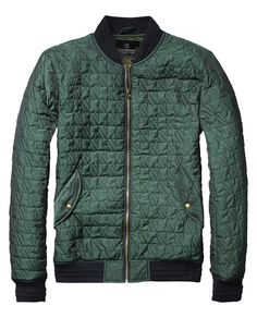 Quilted Nylon Bomber Jacket | Scotch and Soda Mens