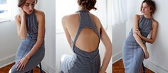 knit open back dress