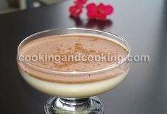 Bavarian Cream  Egg yoks, whipping cream, unflavoured gelatin, vanilla extract, sugar, cocoa powder