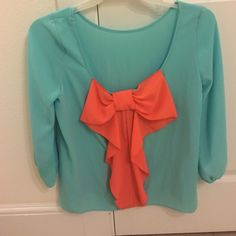 Bow back shirt Worn once! Tops