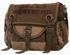 Mens Army Courier  Vintage Bike  Messenger Bag  Serbags Bike Messenger Bags  70ba517514631