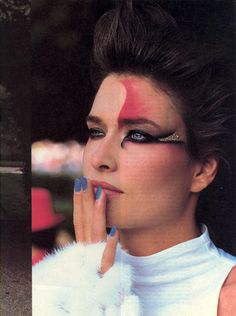A World of Pleasure  Photo Denis Piel  Models Rosemary McGrotha & Laetitia Firmin-Didot  US VOGUE Dec 1984