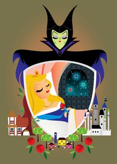 """Sleeping Beauty"" by Michelle Romo for the Good vs. Evil show at WonderGround Gallery"