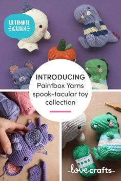 Whether you make the cutest pumpkin on the patch or a fiendishly friendly ghost, these FREE Halloween amigurumi projects are the ultimate trick or treat! | Downloadable PDFs at LoveCrafts.com Cute Pumpkin, Paintbox Yarn, Halloween Projects, Amigurumi Patterns, Trick Or Treat, Free Pattern, Craft Supplies, Dinosaur Stuffed Animal, Crochet Hats