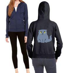 Scottish Fold Cat Ladies Zip-up Hoodie