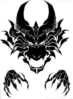 Viking Tattoos Discover Dragon head tribal by MisterSD on DeviantArt Dragon head tribal by MisterSD Dragon Head Tattoo, Tribal Dragon Tattoos, Dragon Tattoo Designs, Tribal Tattoo Designs, Viking Tattoos, Geometric Tattoos, 3d Tribal Tattoo, Tattoo Stencils, Stencil Art