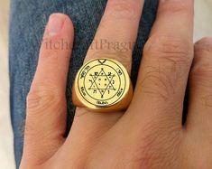Pentacle, Prague, Demon Possession, Bad Spirits, King Solomon, Magic Ring, Witchcraft, Class Ring, Rings For Men
