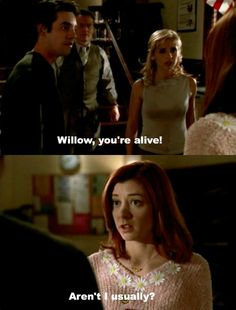 One of my very favorite episodes. Evil Vampire Willow was one of my very first formative inspirations for Miranda.