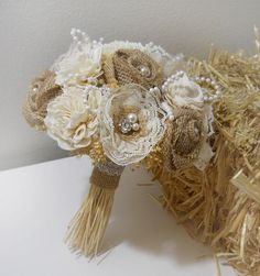 Hey, I found this really awesome Etsy listing at https://www.etsy.com/listing/210041778/rustic-shabby-chic-bouquet-with-burlap
