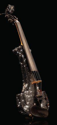 Linzi Stoppard plush crystal violin.