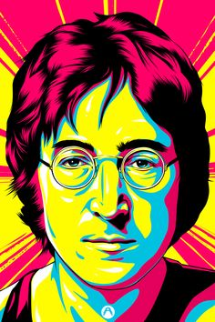 New Pop Art Portraits Drawings Andy Warhol Ideas Poster Dos Beatles, The Beatles, Comic Cat, Portraits Pop Art, Kit Pintura, John Lenon, Rock Poster, Kunst Online, Online Art