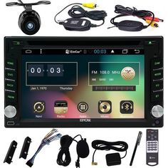 Android6.0 in Dash 2Din Capacitive Screen Car DVD Player for Universal din Vehicles Screen Mirror& Wireless Camera car gps wifi #Affiliate