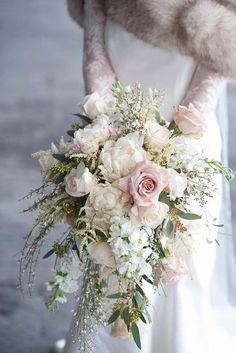 27 Glamorous Blush Wedding Bouquets That Inspire ❤ See more: http://www.weddingforward.com/blush-wedding-bouquets/ #weddings