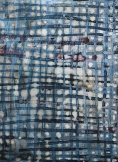 Lari Washburn, grid study, blue